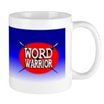 Word Warrior red shield Mug