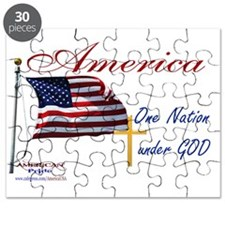 America One Nation Under God Yard Sign Puzzle