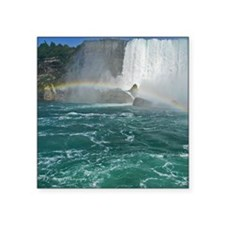 "Rainbow and Bridal Falls Square Sticker 3"" x 3"""
