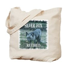 Silver Fox Retired Tote Bag