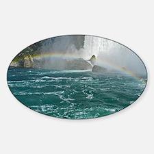 Rainbow and Bridal Falls Sticker (Oval)