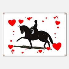 Dressage and Hearts Banner