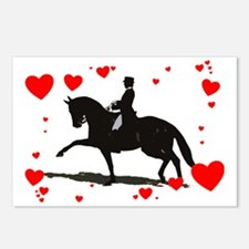 Dressage and Hearts Postcards (Package of 8)