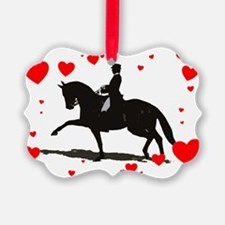 Dressage and Hearts Ornament