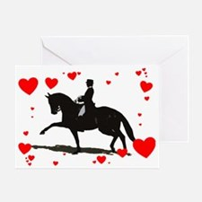 Dressage and Hearts Greeting Card