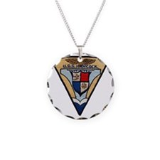 uss hancock patch transparen Necklace