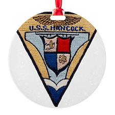 uss hancock patch transparent Ornament