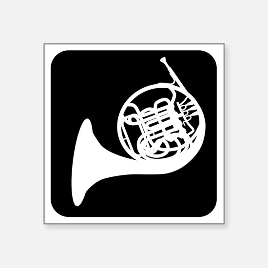 """Horn Square Sticker 3"""" x 3"""""""