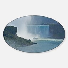Maid of the Mist and Horseshoe Fall Sticker (Oval)