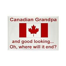 Gd Lkg Canadian Grandpa Rectangle Magnet