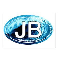 JB.Jacksonville Beach wav Postcards (Package of 8)