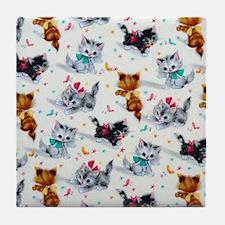 Cute Playful Kittens Tile Coaster