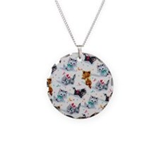 Cute Playful Kittens Necklace