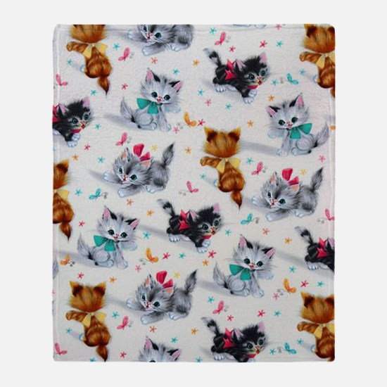 Cute Playful Kittens Throw Blanket