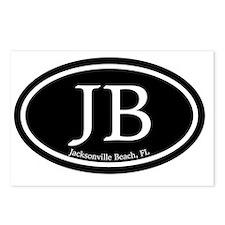 JB.Jacksonville Beach ova Postcards (Package of 8)