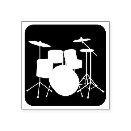 "Drumset Square Sticker 3"" x 3"""