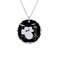 Drumset Necklace Circle Charm