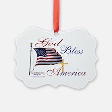 God Bless America yard sign Ornament