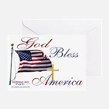 God Bless America yard sign Greeting Card