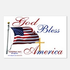 God Bless America yard si Postcards (Package of 8)