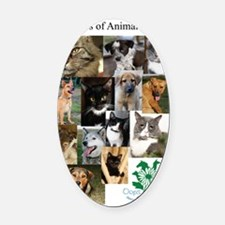 The Faces of Animal Rescue Oval Car Magnet