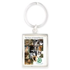 The Faces of Animal Rescue Portrait Keychain