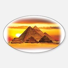 The Pyramids at Giza Sticker (Oval)