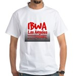 IBWA red White T-Shirt