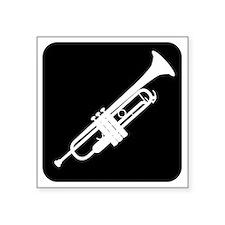 "Trumpet Square Sticker 3"" x 3"""