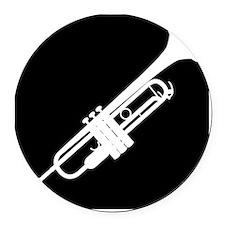Trumpet Round Car Magnet