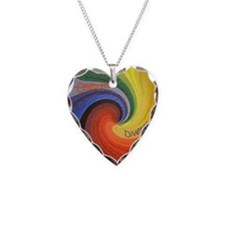Celebrate Diversity small squ Necklace Heart Charm
