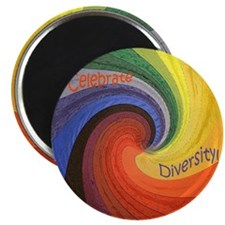 Celebrate Diversity small square Magnet