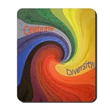 Celebrate Diversity small square Mousepad
