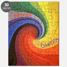 Celebrate Diversity small square Puzzle
