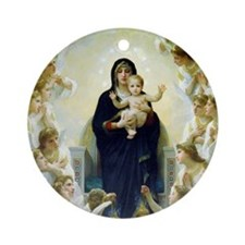 William Adolphe Bouguereau Round Ornament