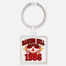 Raising Hell since 1986 Square Keychain