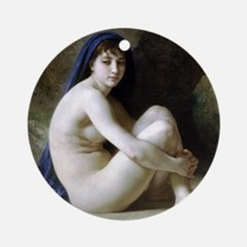 William Adolphe Bouguereau Seated N Round Ornament