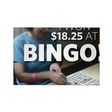 bingo3 Rectangle Magnet