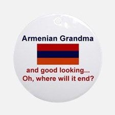 Gd Lkg Armenian Grandma Ornament (Round)