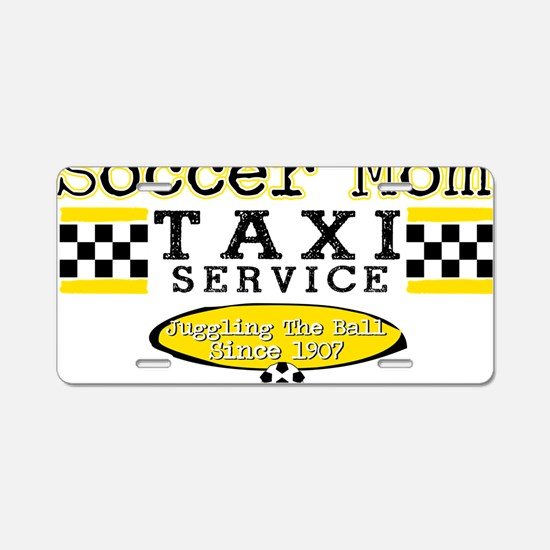 Soccer Mom Taxi Service Aluminum License Plate