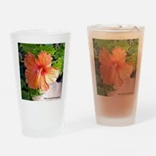 Hibiscus Drinking Glass