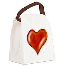 An original heart painting Canvas Lunch Bag