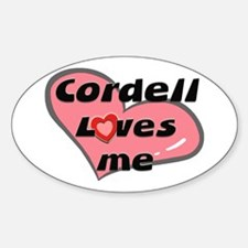cordell loves me Oval Decal