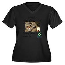 Foster Home  Women's Plus Size Dark V-Neck T-Shirt