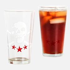 skull bones star rock and roll Drinking Glass