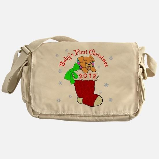 Babys 1st Christmas 2012 Messenger Bag
