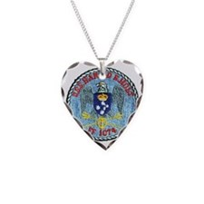 uss harold e. hold ff patch t Necklace Heart Charm