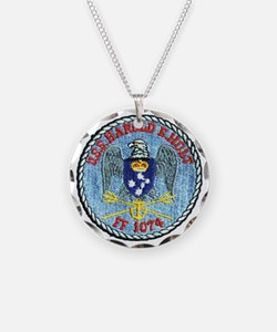 uss harold e. hold ff patch  Necklace