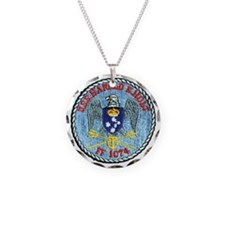uss harold e. hold ff patch  Necklace Circle Charm