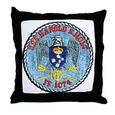 uss harold e. hold ff patch transpare Throw Pillow